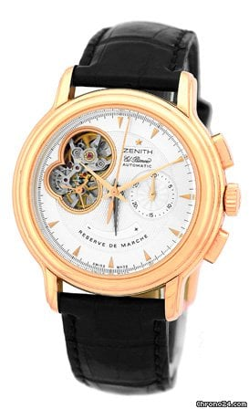Zenith Chronomaster Open Power Reserve El Primero Chronograph Strapwatch