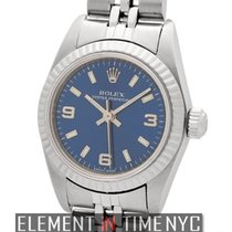 Rolex Oyster Perpetual 26mm No-Date Blue Dial K Serial Ref. 76094