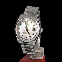 Rolex datejust white gold medium size