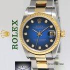 Rolex Datejust 18k Yellow Gold/Steel Vignette Diamond Dial...
