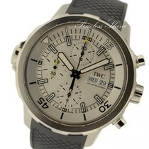 IWC Aquatimer Iw3768 Chronograph Automatic Silver Dial Rubber...
