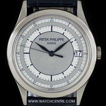 Patek Philippe 18k W/G Two Tone Silvery-Gray Dial Calatrava...