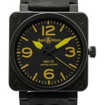 Bell & Ross Aviation BR01 92 Yellow PVD LE Automatic Watch...