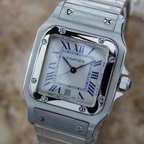 Cartier Santos Unisex Swiss Made C2000 Stainless Steel Quartz...