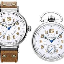 Glycine F104 100th Anniversary GMT Watch & Pocket Watch Set