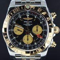 Breitling Chronomat 44MM GMT, Gold/Steel Black Dial Full Set