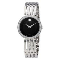 Movado Esperanza Matte Black Stainless Steel Ladies Watch 0607052