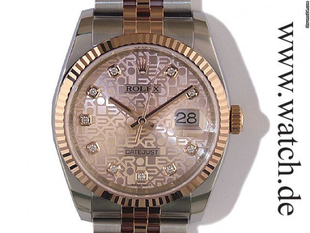 Rolex Datejust 36mm Stahl/Rosgold Diamond