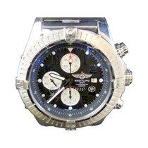 Breitling Super Avenger A13370 Chronograph Stainless Steel...