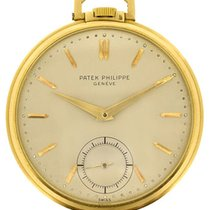 Patek Philippe 18k yellow gold Calatrava-style Pocketwatch...