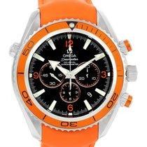 Omega Seamaster Planet Ocean Xl Orange Bezel Strap Watch...