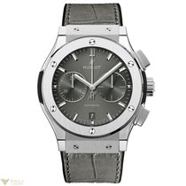 Hublot Classic Fusion Chronograph Titanium Crocodile Leather...