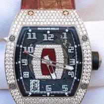 Richard Mille RM005 White Gold Diamond Set Case Leather Strap
