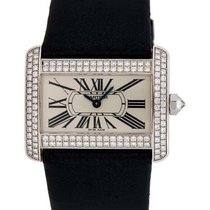 Cartier Tank Divan 18kt White Gold Diamond Mini Watch – WA301271
