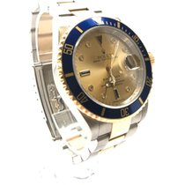 Rolex Submariner Two Tone Serti diamond and sapphire dial