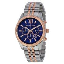 Michael Kors Lexington Chronograph Navy Dial Unisex Watch MK8412