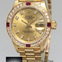 Rolex Datejust President 18k Yellow Gold Diamond & Ruby...