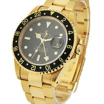 Rolex Used 16718 GMT Master II Yellow Gold - Circa 1995 -...
