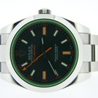 Rolex Milgauss Green Glass 116400GV Box and Papers V Serial