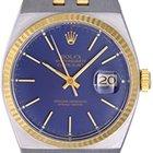 Rolex Oysterquartz Datejust 17013 2-Tone Men's Watch Blue...