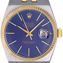 Rolex Oysterquartz Datejust 17013 2-Tone Men's Watch Blue...