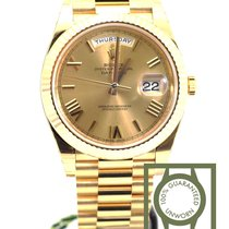 Rolex Day Date 40 yellow gold champagne roman president 228238...