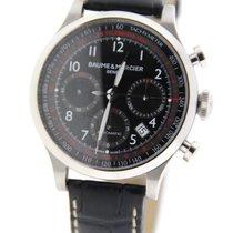 Baume & Mercier Capeland Chronograph Black Dial Stainless...