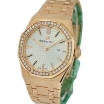 Audemars Piguet Royal Oak Ladies Quartz in Rose Gold Diamond...