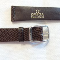 Omega 18 mm new brown lizard strap + 14 mm Omega steel buckle