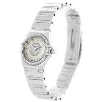 Omega Constellation Specialties 18k White Gold Pave Diamond...