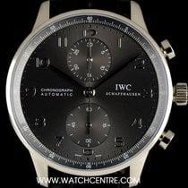 IWC 18k W/Gold Anthracite Dial Portuguese Chrono B&P IW371431