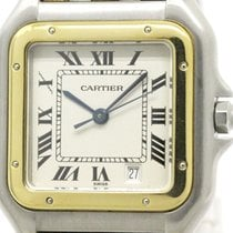 Cartier Polished Cartier Panthere 18k Gold Steel Quartz Mid...