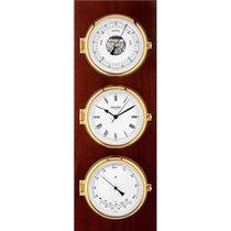 Wempe Chronometerwerke Wetterstation Elegance Messing Mahagoni...