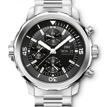 IWC Schaffhausen IW376804 Aquatimer Chronograph Black Index...