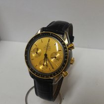 Omega Speedmaster Automatic no date gold and steel