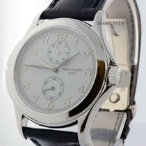 Patek Philippe 5134 Travel Time 18k White Gold Mens Watch...