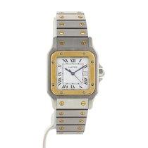 Cartier Santos Galbée en or et acier