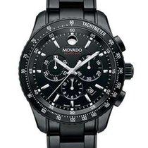 Movado Series 800 Mens Chrono - Black Dial, Case and Bracelet...