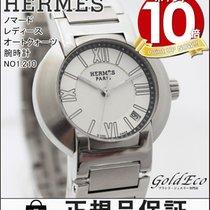 Hermès 【エルメス】ノマード レディース オートクォーツ 腕時計デイト機能 アナログ ステンレススティールシルバー...