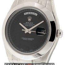 Rolex Day-Date II President Platinum Blackout Ref. 218206