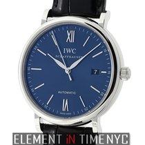 IWC Portofino 18k White Gold Blue Dial Boutique Edition...