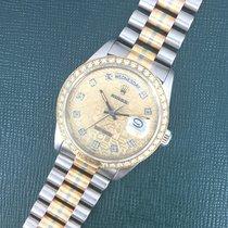 Rolex Tridor Day-Date Diamond Watch Ref. 18129