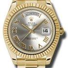 Rolex Day-Date II President Yellow Gold - Fluted Bezel 218238 srp