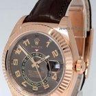 Rolex Sky-Dweller 18k Everose Gold Chocolate Strap Box/Papers...