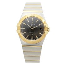 Omega Constellation Gold And Steel Dark Grey Automatic...