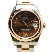 Rolex Lady Datejust 18k Rose Gold And Steel Bround Automatic...
