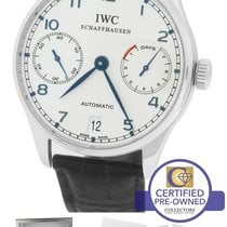 IWC Portuguese 7-Day 46mm 5001-07 IW500107 Stainless Blue 42.3mm