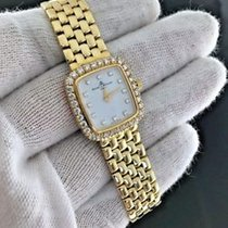 Baume & Mercier Ladies Watch Yellow Gold with Diamonds Quartz