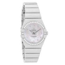Omega Constellation Ladies Diamond MOP Swiss Watch 123.15.27.6...
