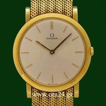 Omega Vintage Classic 18k Yellow Gold Removable Bracelet